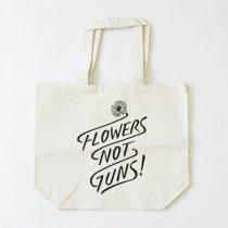Suolo(スオーロ)FLOWERS NOT GUNS!(フラワーズノットガンズ)トートバッグ タイポグラフ