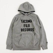 TACOMA FUJI RECORDS(タコマフジレコード)LETTER PRINT HOODIE(12oz)ヘザーグレー