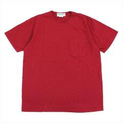 SASSAFRAS(ササフラス)CHOP CORNER POCKET T(Tシャツ)レッド