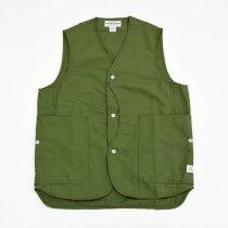 SASSAFRAS(ササフラス)Fall Leaf Gardener Vest オリーブ(ナイロンオックス)