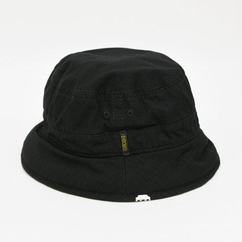 DECHO(デコー)BUCKET HAT ブラック(CORDURAリップストップ) - LIFETIME fa5bdbb052c