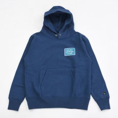 Tacoma Fuji Records(タコマフジレコード)GOOD BEER DRINKING TEAM PATCH HOODIE ネイビー