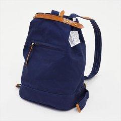 Suolo(スオーロ)NAPPASAC ネイビー×キャメルレザー(9号パラフィン帆布バッグ)