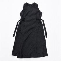 Fog linen work(フォグリネンワーク)リネンサロンドレス ブラック