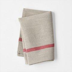 Fog linen work(フォグリネンワーク)厚地リネンキッチンクロス ナチュラル/レッドライン