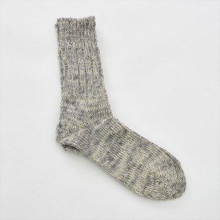 Fog linen work(フォグリネンワーク)リネンコットンソックス ムーングレー(22〜24cm)