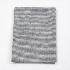 Fog linen work(フォグリネンワーク)リネンテーブルクロスL グレーホワイトストライプ(130×180cm)