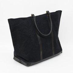 Suolo(スオーロ)01 TENGALON ブラック(9号パラフィン帆布バイオウォッシュ+栃木レザー)