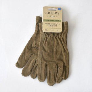 イギリスBriers(ブリアーズ)レザーグローブ PREMIUM OLIVE GARDENER(洗える革手袋)