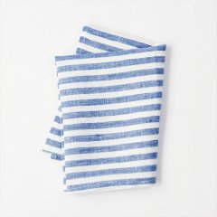Fog linen work(フォグリネンワーク)普通地リネンキッチンクロス ブルー×ホワイトストライプ