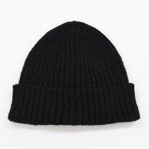 Decho(デコー)LINEN WATCH CAP ブラック(リネン)