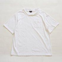 Napron(ナプロン)DOUBLE NECK T-SHIRT ホワイト
