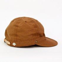 Decho(デコー)SHALLOW KOME CAP ブラウン(塩縮加工ロクヨンクロス)