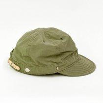 Decho(デコー)SHALLOW KOME CAP カーキ(塩縮加工ロクヨンクロス)