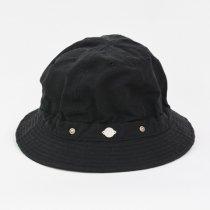 Decho(デコー)SHALLOW KOME HAT ブラック(塩縮加工ロクヨンクロス)