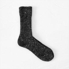 Fog linen work(フォグリネンワーク)ウールリネンソックス ブラック(22〜25cm)