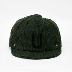 Decho(デコー)BALL CAP カーキストライプ(コットンウール)