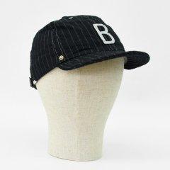 Decho(デコー)BALL CAP ブラックストライプ(コットンウール)
