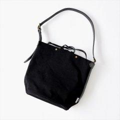 Suolo(スオーロ)SAND ブラック(6号パラフィン帆布バイオウォッシュ)