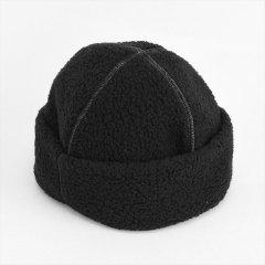 Decho(デコー)RETRO CAP ブラック×グレーステッチ(シープパイル)