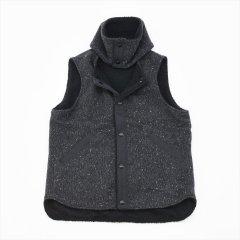 SASSAFRAS(ササフラス)CRAZY GARDENER VEST Blanket ブラック(ウール)