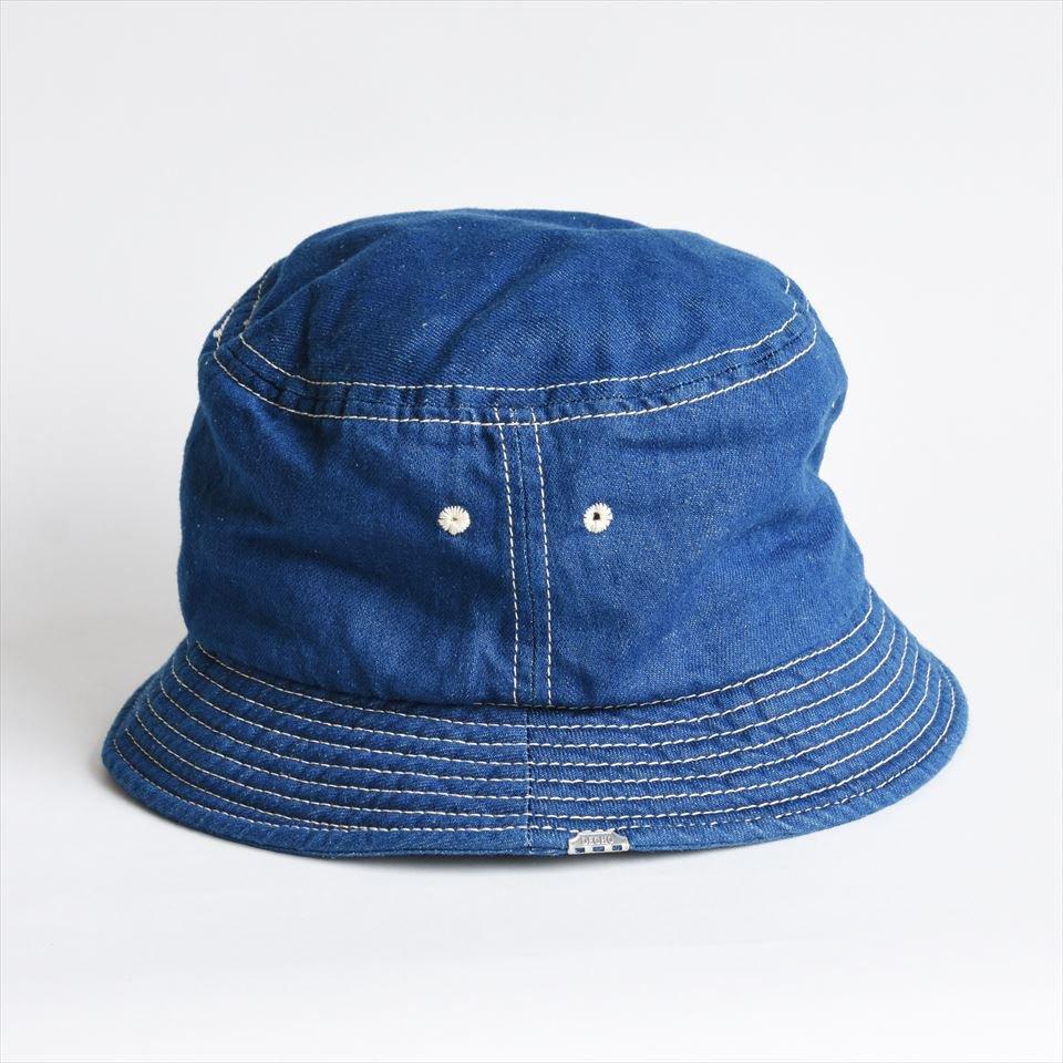 df9c1e4b37b9f DECHO(デコー)BUCKET HAT ブルーデニム白ステッチ(綿80%麻20%)