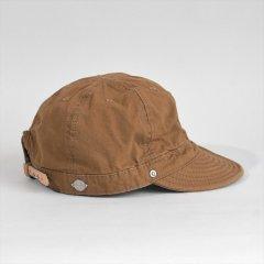 Decho(デコー)SHALLOW KOME CAP ブラウン(高密度ポプリン)