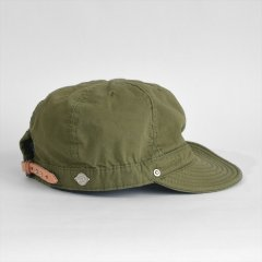 Decho(デコー)SHALLOW KOME CAP オリーブ(高密度ポプリン)