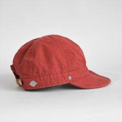 Decho(デコー)SHALLOW KOME CAP レッド(高密度ポプリン)
