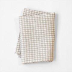 Fog linen work(フォグリネンワーク)普通地リネンキッチンクロス ナチュラル×ホワイトチェック