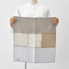 Fog linen work(フォグリネンワーク)リネンパッチワークナプキン ナチュラル