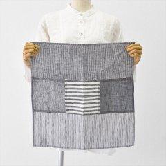 Fog linen work(フォグリネンワーク)リネンパッチワークナプキン ブラック