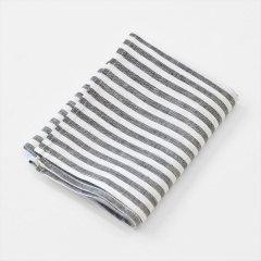 Fog linen work(フォグリネンワーク)普通地リネンキッチンクロス ブラックホワイトストライプ