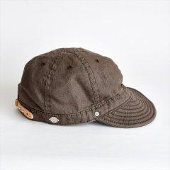 Decho(デコー)SHALLOW KOME CAP ブラウン(リネン)