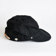 Decho(デコー)SHALLOW KOME CAP ブラック(リネン)