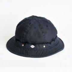 Decho(デコー)SHALLOW KOME HAT ネイビー(リネン)
