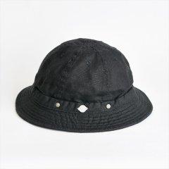 Decho(デコー)SHALLOW KOME HAT ブラック(リネン)