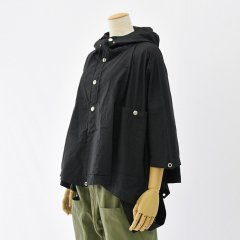 Napron(ナプロン)MILITARY PONCHO ブラック