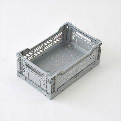 Ay-kasa(エーワイカーサ)マルチウェイボックス MINI(折りたたみコンテナ)グレー