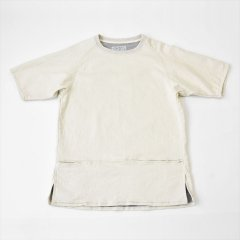 Senelier(セネリエ)Strange Raglan Short Sleeve -fake sweat- オフホワイト