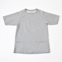 Senelier(セネリエ)Strange Raglan Short Sleeve -fake sweat- 杢グレー