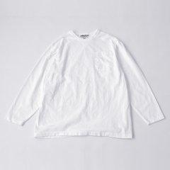 Sassafras(ササフラス)CHOP CORNER POCKET T(長袖Tシャツ)ホワイト