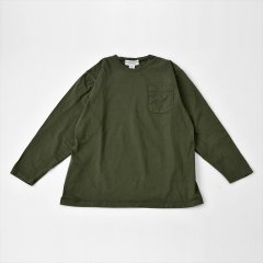 Sassafras(ササフラス)CHOP CORNER POCKET T(長袖Tシャツ)オリーブ