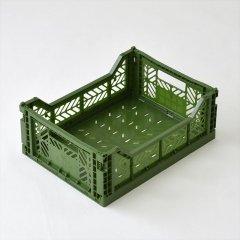 Ay-kasa(エーワイカーサ)マルチウェイボックス MIDI(折りたたみコンテナ)カーキ
