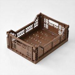 Ay-kasa(エーワイカーサ)マルチウェイボックス MIDI(折りたたみコンテナ)コーヒー