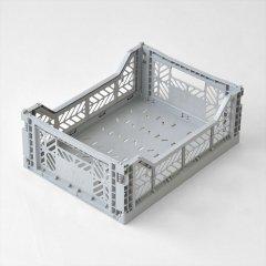 Ay-kasa(エーワイカーサ)マルチウェイボックス MIDI(折りたたみコンテナ)グレー