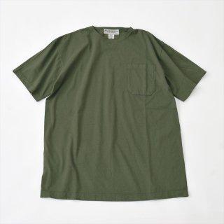 Sassafras(ササフラス)CHOP CORNER POCKET T(半袖Tシャツ)オリーブ