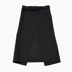 Fog linen work(フォグリネンワーク)リネンギャルソンエプロン ブラック