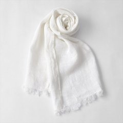 Fog linen work(フォグリネンワーク)コーディースカーフ ホワイト