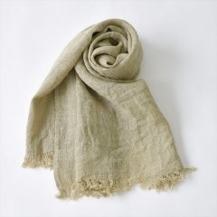 Fog linen work(フォグリネンワーク)コーディースカーフ ナチュラル